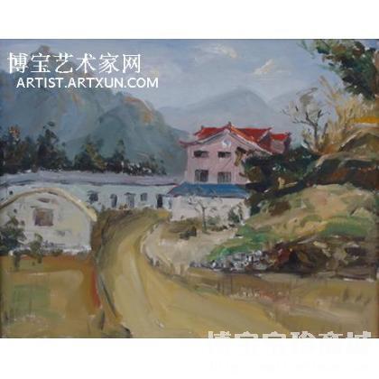 名家 汪榮光 油畫;當代藝術;書法; - 汪榮光 紅房子 類別: 風景油畫